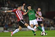 17 October 2017; Jimmy Keohane of Cork City in action against Aaron McEneff of Derry City, during the SSE Airtricity League Premier Division match between Cork City and Derry City at Turners Cross, in Cork.  Photo by Eóin Noonan/Sportsfile