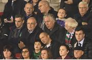 17 October 2017; FAI CEO John Delaney, with FAI Competition Director Fran Gavin, left, and Cork City FC Chairman Pat Lyons, right, during the SSE Airtricity League Premier Division match between Cork City and Derry City at Turners Cross in Cork. Photo by Stephen McCarthy/Sportsfile