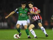 17 October 2017; Jimmy Keohane of Cork City in action against Barry McNamee of Derry City, during the SSE Airtricity League Premier Division match between Cork City and Derry City at Turners Cross, in Cork. Photo by Eóin Noonan/Sportsfile