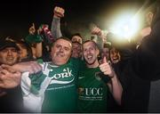 17 October 2017; Stephen Dooley of Cork City and supporters celebrate winning the SSE Airtricity League Premier Division after the SSE Airtricity League Premier Division match between Cork City and Derry City at Turners Cross in Cork. Photo by Stephen McCarthy/Sportsfile