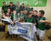 17 October 2017; Cork City players celebrate winning the SSE Airtricity League Premier Division in the dressing room after the SSE Airtricity League Premier Division match between Cork City and Derry City at Turners Cross in Cork. Photo by Stephen McCarthy/Sportsfile