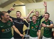 17 October 2017; Cork City players celebrate winning the SSE Airtricity League Premier Division following the match between Cork City and Derry City at Turners Cross in Cork. Photo by Stephen McCarthy/Sportsfile