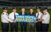 18 October 2017; Ard Stiúrthoir Paraic Duffy and former Dublin footballer Ger Brennan with gardaí from left, Superintendent Gerard Murphy, Assistant Garda Commissioner Pat Leahy, Chief Superintendent Seán Ward, and Superintendent Dan Flavin at the launch of the inaugural Dublin North Central Garda Youth Awards in association with Croke Park. These awards are being launched to celebrate outstanding young people between 13 and 21 years of age and will recognise the good work being done by young people throughout the communities of Dublin North Central. Find out more at crokepark.ie/YouthAwards Photo by Piaras Ó Mídheach/Sportsfile