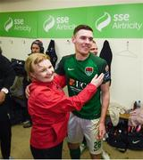 17 October 2017; Garry Buckley of Cork City and Lisa Fallon, Cork City performance analyst, following the SSE Airtricity League Premier Division match between Cork City and Derry City at Turners Cross in Cork. Photo by Stephen McCarthy/Sportsfile