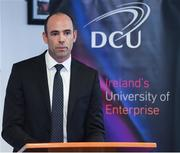 19 October 2017; GPA Chief Executive Dermot Earley in attendance at a GPA DCU Business School Masters Scholarship Programme and MBA Programme announcement at DCU Business School in Glasnevin, Dublin. Photo by Matt Browne/Sportsfile