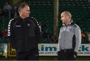 20 October 2017; Limerick FC manager Neil McDonald with Galway United manager Shane Keegan before the SSE Airtricity League Premier Division match between Limerick FC and Galway United at Market's Field in Limerick. Photo by Matt Browne/Sportsfile