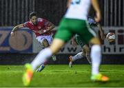 20 October 2017; Billy Dennehy of St Patrick's Athletic shoots to score his side's second goal during the SSE Airtricity League Premier Division match between St Patrick's Athletic and Cork City at Richmond Park in Dublin. Photo by Stephen McCarthy/Sportsfile