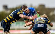 21 October 2017; James Cannon of Connacht is tackled by David Denton and Will Spencer of Worcester Warriors during the European Rugby Champions Cup Pool 5 Round 2 match between Connacht and Worcester Warriors at the Sportsground in Galway. Photo by Matt Browne/Sportsfile