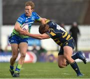 21 October 2017; Kieran Marmion of Connacht is tackled by Gareth Milasinovich of Worcester Warriors, during the European Rugby Champions Cup Pool 5 Round 2 match between Connacht and Worcester Warriors at the Sportsground in Galway. Photo by Matt Browne/Sportsfile