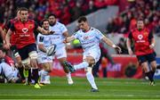 21 October 2017; Dan Carter of Racing 92 kicks clear during the European Rugby Champions Cup Pool 4 Round 2 match between Munster and Racing 92 at Thomond Park in Limerick. Photo by Brendan Moran/Sportsfile