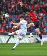 21 October 2017; Conor Murray of Munster in action against Dan Carter of Racing 92 during the European Rugby Champions Cup Pool 4 Round 2 match between Munster and Racing 92 at Thomond Park in Limerick. Photo by Diarmuid Greene/Sportsfile