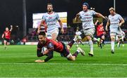 21 October 2017; Conor Murray of Munster goes over to score his side's first try during the European Rugby Champions Cup Pool 4 Round 2 match between Munster and Racing 92 at Thomond Park in Limerick. Photo by Brendan Moran/Sportsfile