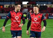 21 October 2017; Try scorers Conor Murray, left, and Andrew Conway of Munster after the European Rugby Champions Cup Pool 4 Round 2 match between Munster and Racing 92 at Thomond Park in Limerick. Photo by Brendan Moran/Sportsfile