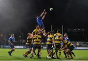21 October 2017; Josh Murphy of Leinster A wins the ball from a line out during the British & Irish Cup Round 2 match between Leinster A and Cardiff Blues Premiership Select at Donnybrook Stadium in Donnybrook, Dublin. Photo by Sam Barnes/Sportsfile