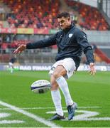 21 October 2017; Dan Carter of Racing 92 warms up prior to the European Rugby Champions Cup Pool 4 Round 2 match between Munster and Racing 92 at Thomond Park in Limerick. Photo by Diarmuid Greene/Sportsfile