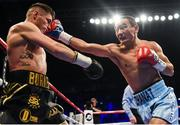 21 October 2017; Zhanat Zhakiyanov, right, exchanges punches with Ryan Burnett during their IBF & WBA Super World Bantamweight Championship bout at the SSE Arena in Belfast. Photo by David Fitzgerald/Sportsfile