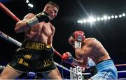 21 October 2017; Ryan Burnett, left, exchanges punches with Zhanat Zhakiyanov during their IBF & WBA Super World Bantamweight Championship bout at the SSE Arena in Belfast. Photo by David Fitzgerald/Sportsfile