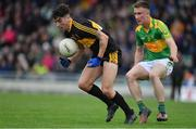 22 October 2017; Tony Brosnan of Dr. Crokes in action against Brian Sugrue of South Kerry, during the Kerry County Senior Football Championship Final match between Dr. Crokes and South Kerry at Austin Stack Park, Tralee in Kerry. Photo by Brendan Moran/Sportsfile