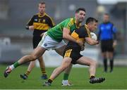 22 October 2017; John Payne of Dr. Crokes is tackled by Bryan Sheehan of South Kerry during the Kerry County Senior Football Championship Final match between Dr. Crokes and South Kerry at Austin Stack Park, Tralee in Kerry. Photo by Brendan Moran/Sportsfile