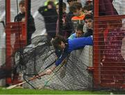 22 October 2017; Young supporters attempt to get a sliotar from behind the goal during the Cork County Senior Hurling Championship Final match between Blackrock and Imokilly at Páirc Uí Chaoimh in Cork. Photo by Eóin Noonan/Sportsfile