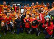 22 October 2017; Castlebar Mitchels players and supporters celebrate with the Moclair Cup following the Mayo County Senior Football Championship Final match between Ballintubber and Castlebar Mitchels at Elvery's MacHale Park in Castlebar, Mayo. Photo by Stephen McCarthy/Sportsfile