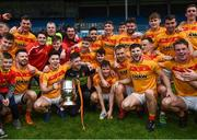 22 October 2017; Castlebar Mitchels players celebrate with the Moclair Cup following the Mayo County Senior Football Championship Final match between Ballintubber and Castlebar Mitchels at Elvery's MacHale Park in Castlebar, Mayo. Photo by Stephen McCarthy/Sportsfile