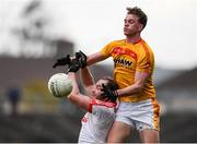 22 October 2017; Danny Kirby of Castlebar Mitchels in action against Danny Geraghty of Ballintubber during the Mayo County Senior Football Championship Final match between Ballintubber and Castlebar Mitchels at Elvery's MacHale Park in Castlebar, Mayo. Photo by Stephen McCarthy/Sportsfile