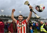 22 October 2017; Paudie O'Sullivan of Imokilly celebrates after the Cork County Senior Hurling Championship Final match between Blackrock and Imokilly at Páirc Uí Chaoimh in Cork. Photo by Eóin Noonan/Sportsfile