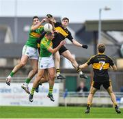 22 October 2017; Bryan Sheehan and Paul O'Donoghue of South Kerry in action against David O'Leary of Dr. Crokes during the Kerry County Senior Football Championship Final match between Dr. Crokes and South Kerry at Austin Stack Park, Tralee in Kerry. Photo by Brendan Moran/Sportsfile