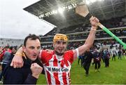 22 October 2017; John Cronin of Imokilly celebrates with a supporter after the Cork County Senior Hurling Championship Final match between Blackrock and Imokilly at Páirc Uí Chaoimh in Cork. Photo by Eóin Noonan/Sportsfile