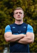 23 October 2017; Leinster's Dan Leavy poses for a portrait following a press conference at Leinster Rugby HQ in UCD, Belfield, Dublin.  Photo by Seb Daly/Sportsfile