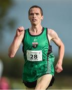 22 October 2017; Adam Kirk-Smith, Derry Track Club, finishes fifth in the Senior Men's event during the Autumn Open Cross Country Festival at the National Sports Campus in Abbotstown, Dublin. Photo by Cody Glenn/Sportsfile