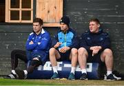 23 October 2017; Leinster players, from left, Luke McGrath, Jonathan Sexton, and Tadhg Furlong during squad training at UCD in Dublin. Photo by Seb Daly/Sportsfile