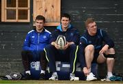 23 October 2017; Leinster players, from left, Luke McGrath, Mick Kearney, and Dan Leavy, during squad training at UCD in Dublin. Photo by Seb Daly/Sportsfile