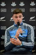 24 October 2017; Dublin footballer Paddy Andrews was in Holy Spirit BNS in Ballymun today at an AIG Heroes event. The AIG Heroes initiative is a programme that leverages AIG's sporting sponsorships to help provide positive role models and build confidence for young people in local communities. Photo by Sam Barnes/Sportsfile