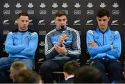 24 October 2017; Dublin footballer Paddy Andrews, centre, along with Dublin footballer Philly McMahon and Dublin hurler Eoghan O'Donnell were in Holy Spirit BNS in Ballymun today at an AIG Heroes event. The AIG Heroes initiative is a programme that leverages AIG's sporting sponsorships to help provide positive role models and build confidence for young people in local communities. Photo by Sam Barnes/Sportsfile