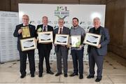 24 October 2017; Bohemian FC representatives with their awards and commendations during the SSE Airtricity League Club Awards at City Hall in Dublin. Photo by Seb Daly/Sportsfile