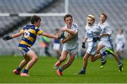 25 October 2017; Jack McCarthy of Bishop Galvin NS Templeogue in action against Robert O'Shea of St. Patrick's NS Diswellstown during day 1 of the Allianz Cumann na mBunscol Finals at Croke Park in Dublin. Photo by Evie O'Brien/Sportsfile