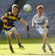 25 October 2017; Aedan Mostyn of Bishop Galvin NS Templeogue in action against Ben O'Neill of St. Patrick's NS Diswellstown during day 1 of the Allianz Cumann na mBunscol Finals at Croke Park in Dublin. Photo by Evie O'Brien/Sportsfile