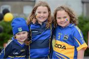 19 August 2012; Tipperary supporters, from left, Amy O'Brien, age 5, Claudia O'Brien, age 9, and Emma O'Brien, age 8, all from Thurles, Co. Tipperary, at the game. GAA Hurling All-Ireland Senior Championship Semi-Final, Kilkenny v Tipperary, Croke Park, Dublin. Picture credit: Brendan Moran / SPORTSFILE