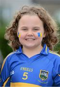 19 August 2012; Tipperary supporter Emma O'Brien, age 8, from Thurles, Co. Tipperary, at the game. GAA Hurling All-Ireland Senior Championship Semi-Final, Kilkenny v Tipperary, Croke Park, Dublin. Picture credit: Brendan Moran / SPORTSFILE