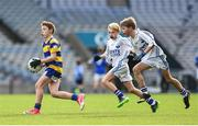 25 October 2017; Aedan Mostyn of St. Patrick's NS Diswellstown in action against Bishop Galvin NS Templeogue during day 1 of the Allianz Cumann na mBunscol Finals at Croke Park, in Dublin. Photo by Evie O'Brien/Sportsfile