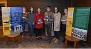 27 October 2017; In attendance at last nights launch of a book and an exhibition to commemorate the centenary of the achievement of the UCD Collegians hurling team in winning the All-Ireland senior hurling championship are, from left, UCD Students, Lindsay Doyle, Abigail Smith, Hayley Kilgallon, Shane Brown, Hannah Ingle and Dearbhla Fay. The book – UCD Collegians: All-Ireland Champions 1917 – written by Paul Rouse and Leanne Blaney. Photo by David Fitzgerald/Sportsfile