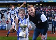 27 October 2017; Ruairi Deignan of Ballyroan BNS poses for a picture with his cousin Jonny Cooper, after winning the Corn Kitterick shield during day 3 of the Allianz Cumann na mBunscol Finals at Croke Park, in Dublin. Photo by David Fitzgerald/Sportsfile