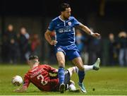 27 October 2017; Billy Dennehy of St.Patricks Athletic in action against Connor McDermott of Derry City during the SSE Airtricity League Premier Division match between Derry City and St Patrick's Athletic at Maginn Park in Buncrana, Co Donegal. Photo by Oliver McVeigh/Sportsfile