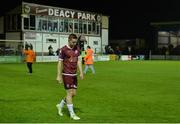 27 October 2017; Padraic Cunningham of Galway United leaves the field after the SSE Airtricity League Premier Division match between Galway United and Dundalk at Eamonn Deasy Park, in Galway. Photo by Piaras Ó Mídheach/Sportsfile
