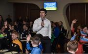 """28 October 2017; Wesley O'Brien, UCC Lecturer, leads a session entitled """"Getting The Right Balance - Juggling Demands As A Player"""" at the #GAAyouth Forum 2017 at Croke Park in Dublin. Photo by Cody Glenn/Sportsfile"""