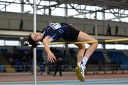 28 October 2017; Laura Frawley of St. Mary's Secondary School, Charleville, Co Cork, competing in the Minor Girls High Jump Event at the Irish Life Health All Ireland Schools Combined Events at the AIT Arena in Athlone, Co Westmeath. Photo by Sam Barnes/Sportsfile