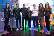28 October 2017; GAA Youth Representatives pictured with Tipperary hurler Brendan Maher, Kerry footballer Paul Geaney, and Mayo footballer Cora Staunton during the #GAAyouth Forum 2017 at Croke Park in Dublin. Photo by Cody Glenn/Sportsfile