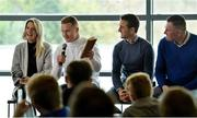 28 October 2017; Speakers, from left, Juliet Murphy, former Cork Ladies Footballer and Coach, Ciarán Kilkenny, Dublin Footballer and Coach, David Herity, former Kilkenny Hurler and Dublin Camogie Manager and Mick Bohan, Dublin Ladies Football Manager at a #GAAyouth Forum 2017 at Croke Park in Dublin. Photo by Piaras Ó Mídheach/Sportsfile